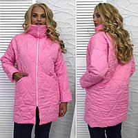 Женское стёганное демисезонное, пальто осень-весна, плащёвка + бусинки. Разные цвета и размеры.
