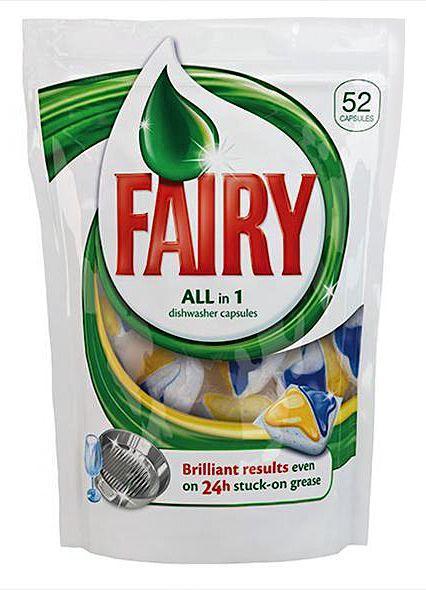 Капсули для посудомийної машини Fairy All in 1 Лимон 52шт.