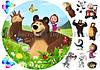 Печать съедобного фото - Ø21 см - Вафельная бумага - Маша и Медведь №39