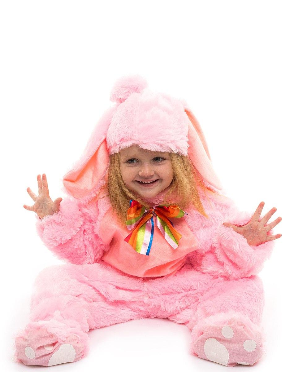 """Детский карнавальный меховой костюм """"Зайчик"""" для малышей (3 цвета)"""