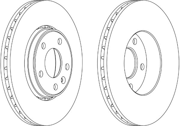 Комплект передних тормозных дисков (2 шт) на Renault Trafic 2001-> — Ferodo (Великобритания) - DDF1204