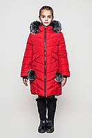 Теплая зимняя куртка на девочку подростка Тина Размеры 128 - 158