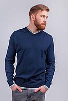 Свитер синий мужской, пуловер трикотажный AG-0002883 Темно-синий
