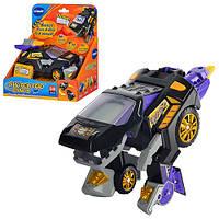 """Робот-трансформер игрушка для детей """"Vtech"""" 141303 размер: 21,5х20,5х12 см, батарейки, полимер, машинка-динозавр, 17,5 см, звуковые эффекты"""