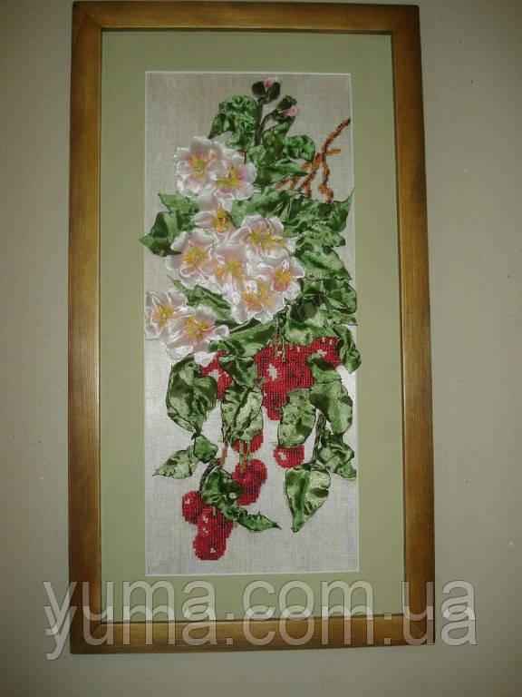 Схема вышивки бисером вишня