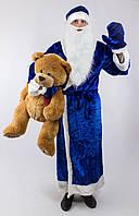 """Мужской карнавальный костюм """"Дед Мороз-Святой Николай"""" с варежками и бородой (2 цвета)"""