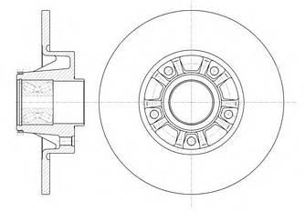Комплект задніх гальмівних дисків (2 шт) на Renault Trafic 2001-> — Ferodo (Великобританія) - DDF1498