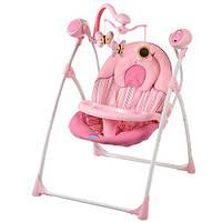 Детские электро качели Bambi M 154012 подвески 3 шт., скоростей 5, таймер, 16 мелодий, крыша, световые эффекты детская электронная качель Bambi