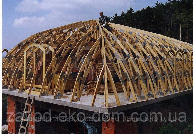 Стропильная система крыши - Завод ЭкоДом в Киевской области