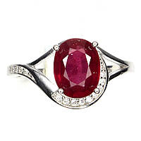 """Яркий перстень """"Алый """" с  рубином  , размер 17.2 от студии LadyStyle.Biz, фото 1"""