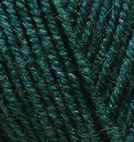 Пряжа полушерстяная Лана голд плюс Lanagold Plus, № 426, т. зеленый