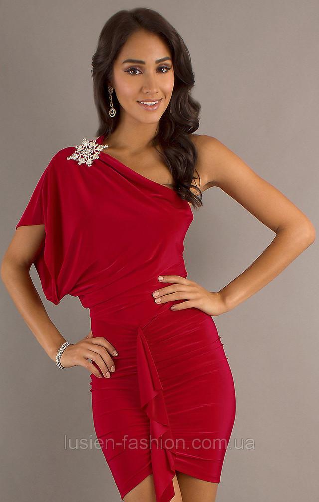 Летнее мини платье коктейльное красное, выбор цветов