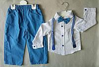 Нарядный детский костюм с бабочкой и подтяжками для мальчиков 1-3 года Турция