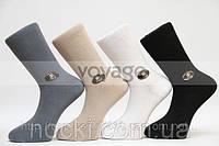 Стрейчевые мужские носки STYLE с хлопка, кеттельный шов
