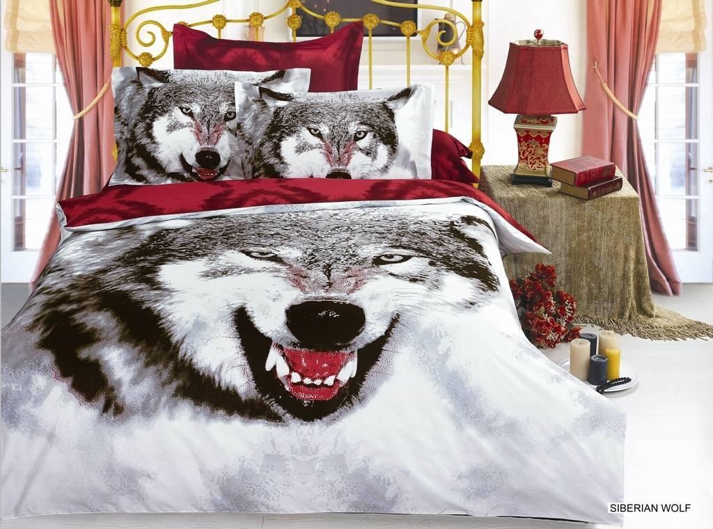 Комплект постельного белья ARYA сатин Siberıan Wolf двуспальный - евро