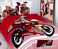 КПБ ARYA друкований дитячий Motor Bike Красный - червоний