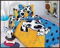 КПБ ARYA печатный детский Puppy Синий