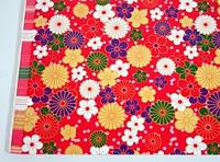 Упаковочная бумага Цветы Индия 10 листов