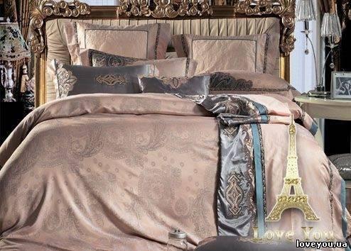 Love You Комплект постельного белья 1-22 жаккард семейный (2 пододеяльника), фото 2