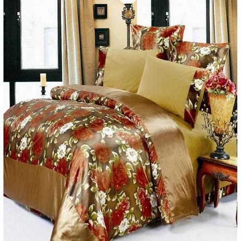 Комплект постельного белья ARYA Сатин Шелк Suzanna евро- 4 наволочки, фото 2