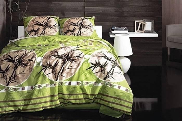 Комплект постельного белья Arya ранфорс Zen Yesil двуспальный - евро, фото 2