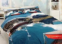 Комплект постельного белья First Choice 3 D ROWING двуспальный - евро