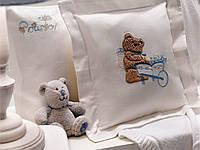 Комплект постельного белья + пике Tivolyo Home Baby POURTOL Голубой детское
