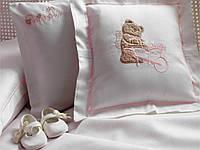 Комплект постельного белья + пике Tivolyo Home Baby POURTOL Розовый детское