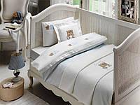 Комплект постельного белья + пике Tivolyo Home Baby LOVELY Голубой детское