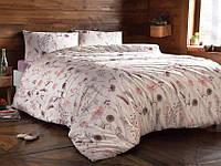 Комплект постельного белья Tivolyo Home ранфорс MIMOSA Лиловый евро