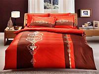 Комплект постельного белья TAC DELUX SATEN MORENO TABA евро