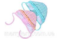 Чепчик из хлопка для новорожденных детей