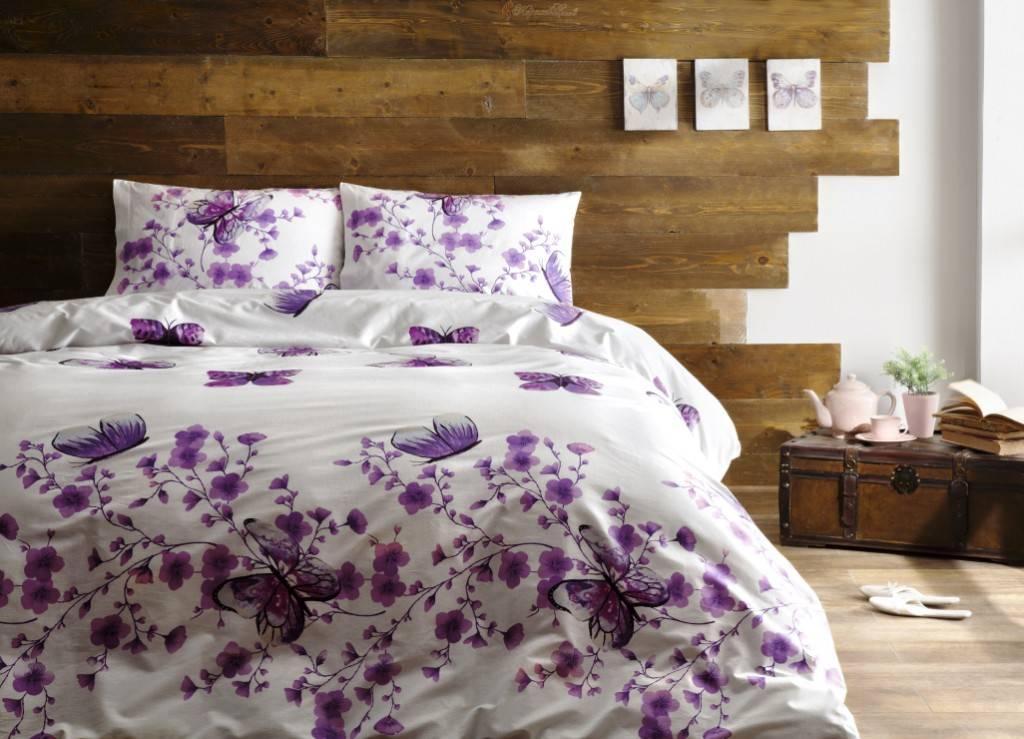 Комплект постельного белья Tivolyo Home FIORE PEMBE двуспальный - евро