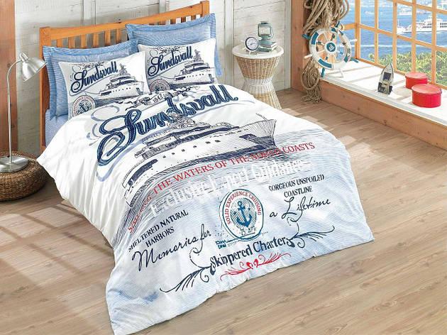 Постельное белье Cotton Box MARİTİME Harbors двуспальный - евро, фото 2