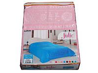 Простынь махровая Julie 200*220 розовый 200x220