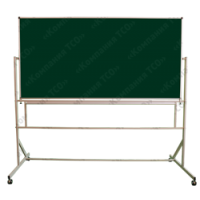 Доска магнитная повортная, 2-хсторонняя мобильная, мел/маркер/комби 150*100