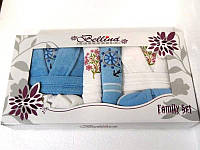 Набор Bellina bukle 2 халата+ 4 полотенца + тапочки 4