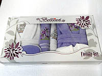 Набор Bellina bukle 2 халата+ 4 полотенца + тапочки 5