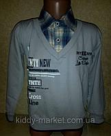 """Рубашка-обманка """"Клетка"""" для мальчика"""