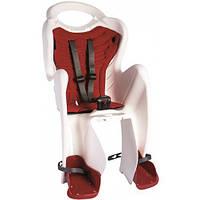 Сиденье задн. BELLELLI MR FOX Clamp Bianco (белое с красной подкладкой) детское