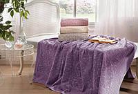 Tivolyo Home махровая простыня Elips Purple-d 220*240