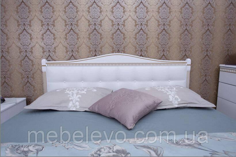 Кровать полуторная Прованс патина квадраты подъемный механизм 140 Олимп - фото 4