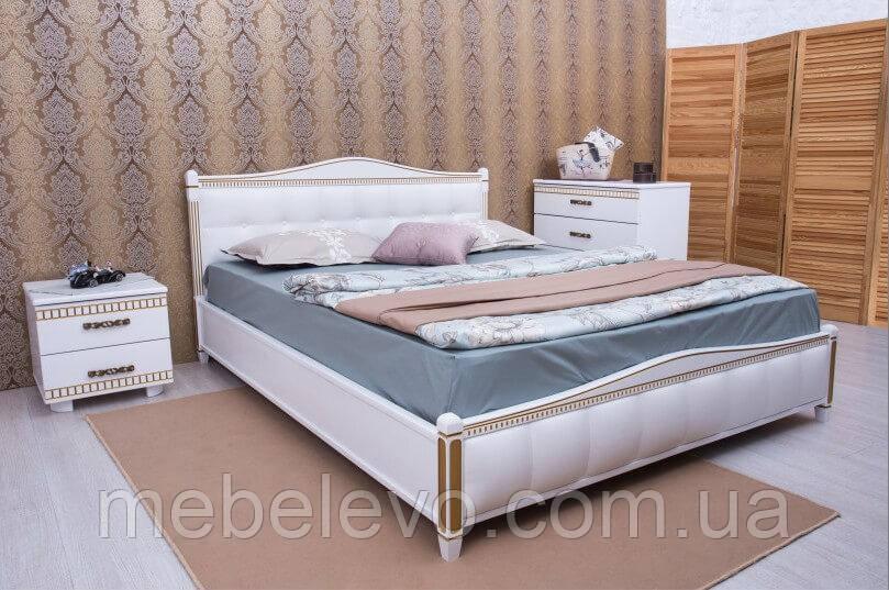 Кровать полуторная Прованс патина квадраты подъемный механизм 140 Олимп - фото 2