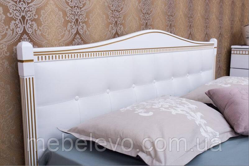 Кровать полуторная Прованс патина квадраты подъемный механизм 140 Олимп - фото 5