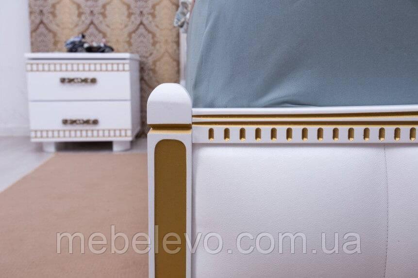 Кровать полуторная Прованс патина квадраты подъемный механизм 140 Олимп - фото 7