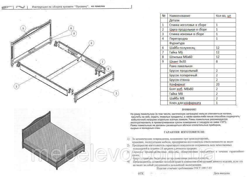 Кровать полуторная Прованс патина квадраты подъемный механизм 140 Олимп - фото 9