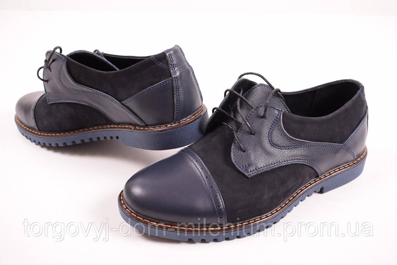 52e820fa347e Туфли мужские из натуральной кожи (цв.т синий) Valers 251 Размер 40 ...