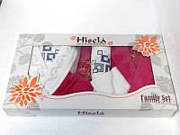 Набор Hisena kadife 2 халата + 4 полотенца 3