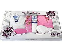 Набор Bellina bukle 2 халата+ 4 полотенца + тапочки 1