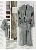 Халат Soft Cotton DELUXE Серый L 48-50